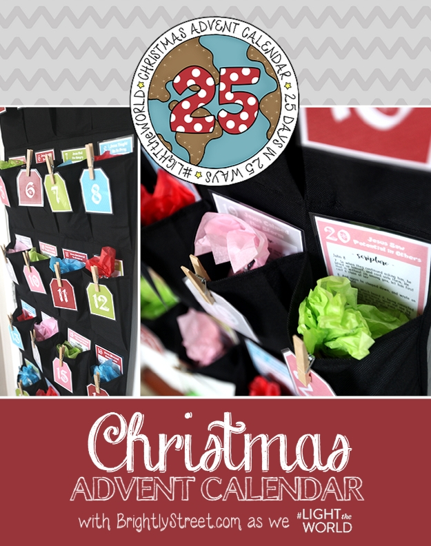 Christmas Advent Calendar 25 Days in 25 Ways #LIGHTtheWORLD
