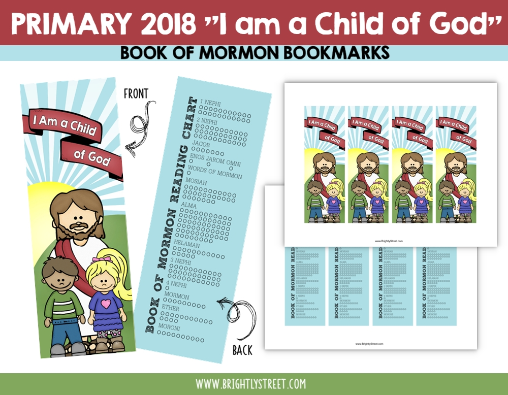 I am a child of God Primary Bookmarks