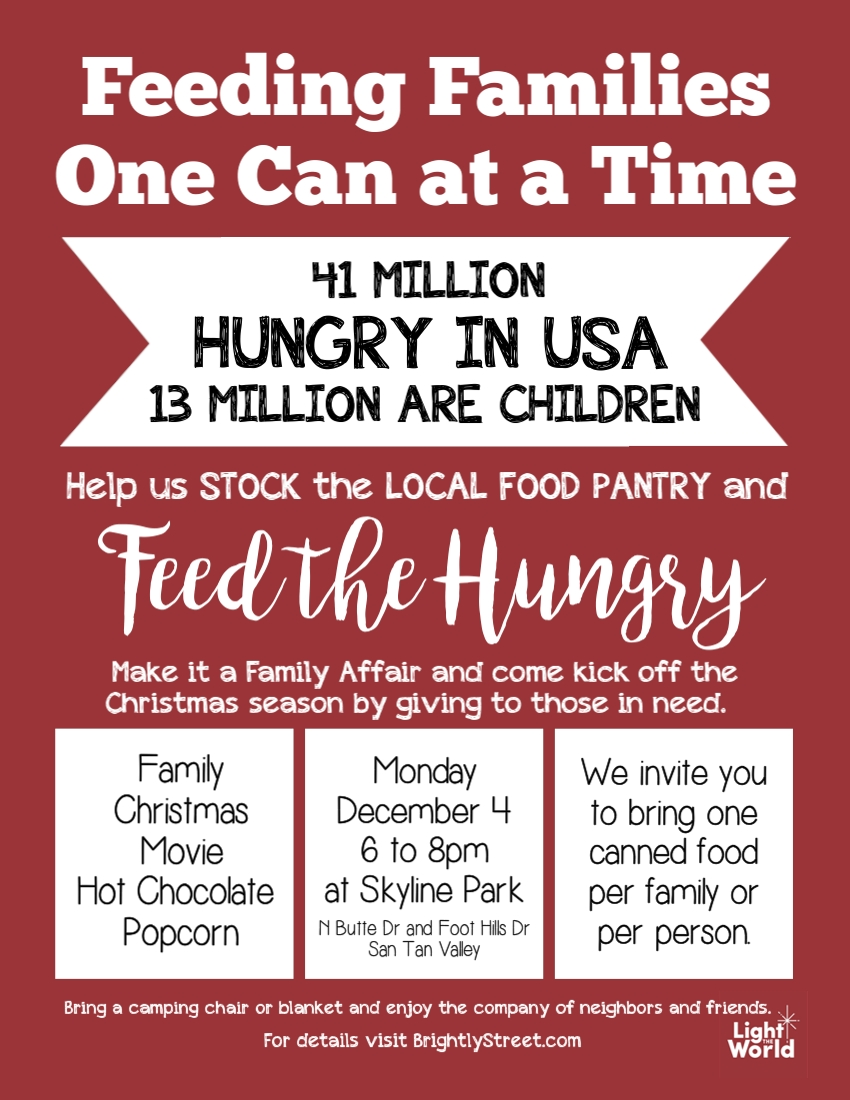 Feed the Hungry #lighttheworld