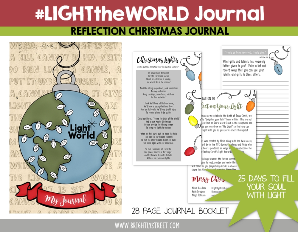 #LIGHTtheWORLD Reflection Journal Free Printable Brightly Street