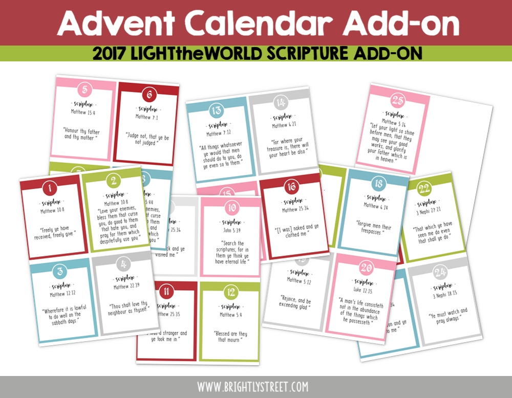 LighttheWorld Brightly Street Advent Calendar 2017 add-on