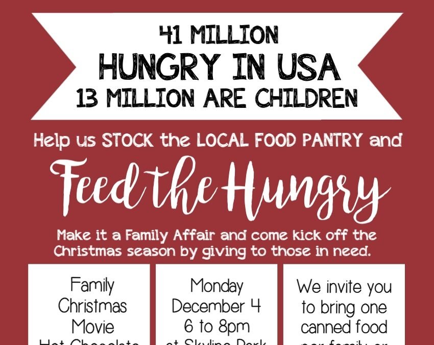 Feed the Hungry #LIGHTtheWorld Event